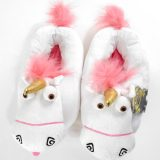 Despicable ME Universal Studios Fluffy Unicorn Adult Size Slippers