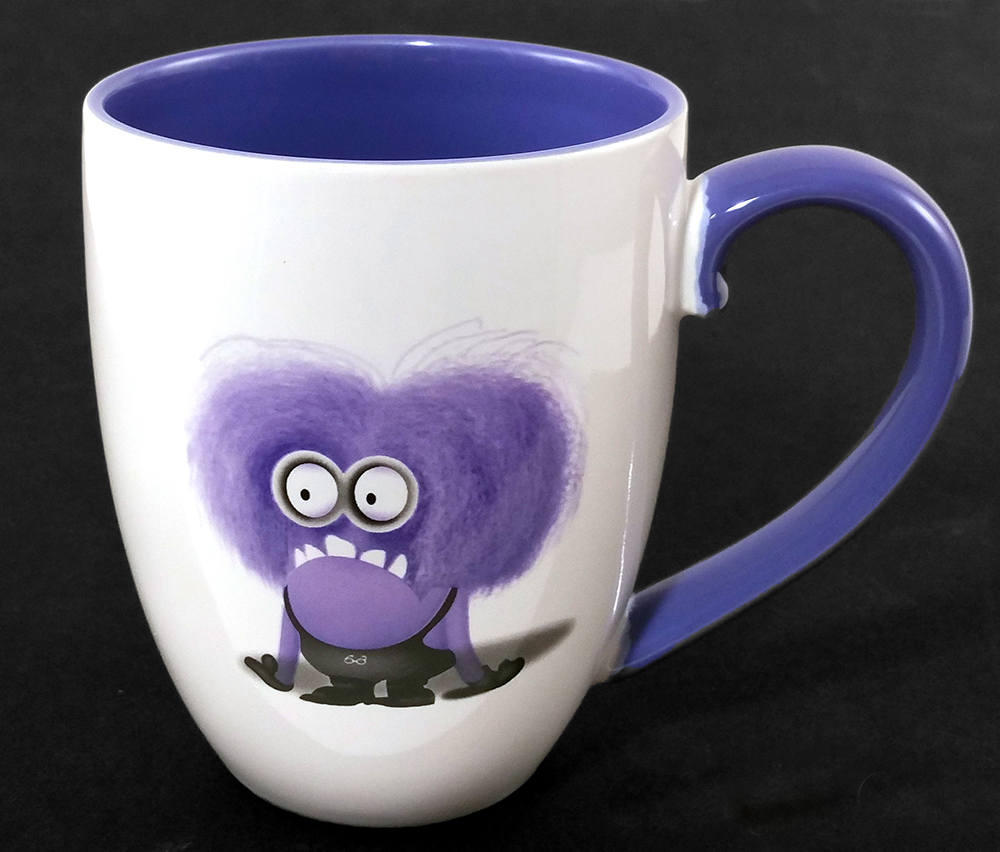 Despicable ME Universal Studios Purple Evil Minions Coffee Mug I Don't Do Mornings