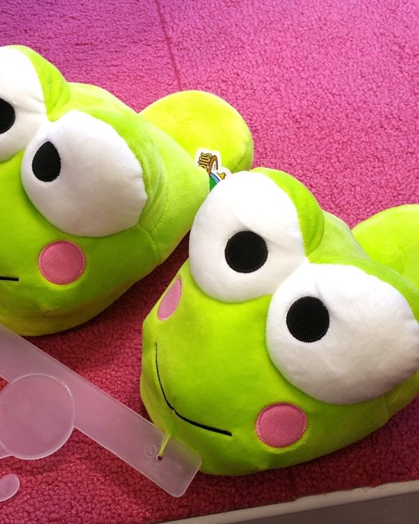 Hello Kitty Friends Universal Studios Slippers Keroppi Frog