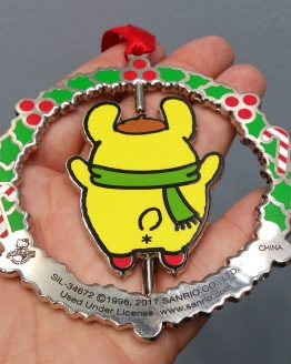 Hello Kitty Universal Studios Ornament Pompompurin Yellow Dog Ice Skating