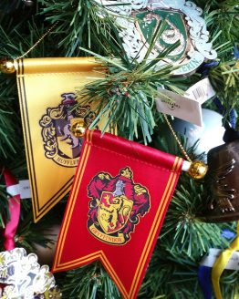 Wizarding World of Harry Potter Ornament Hogwarts House Crest Banner