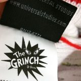 Dr Seuss The Grinch Universal Studios Striped Night Cap Christmas Red Santa Hat