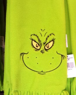 Dr Seuss The Grinch Universal Studios Costume Green Face Embroidered Scarf