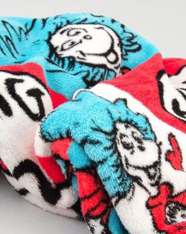 Dr Seuss Cat in the Hat Universal Studios Thing 1 Thing 2 Throw Blanket Super SOFT 56""