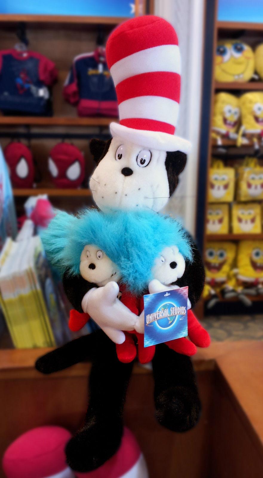 Dr Seuss Universal Studios Cat In The Hat Plush Hugging Thing 1 2