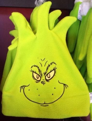Dr Seuss The Grinch Universal Studios Costume Green Face Embroidered Hat
