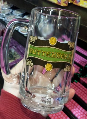 wizarding world harry potter glass butterbeer mug
