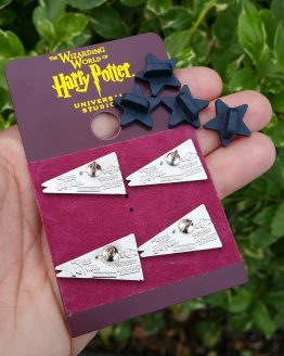 Wizarding World of Harry Potter Universal Studios Trading Pin Set - Hogwarts House Crest Pennants