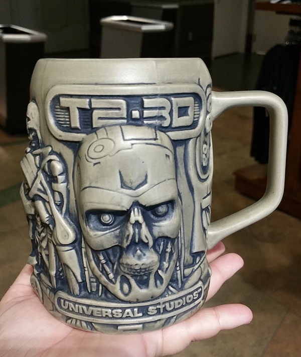 Terminator 2 T2-3D the Ride Universal Studios – Endoskeleton Mug