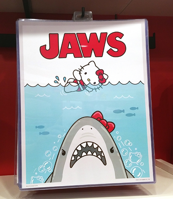 Authentic Universal Studios Hello Kitty Jaws Shark Scene Poster Print