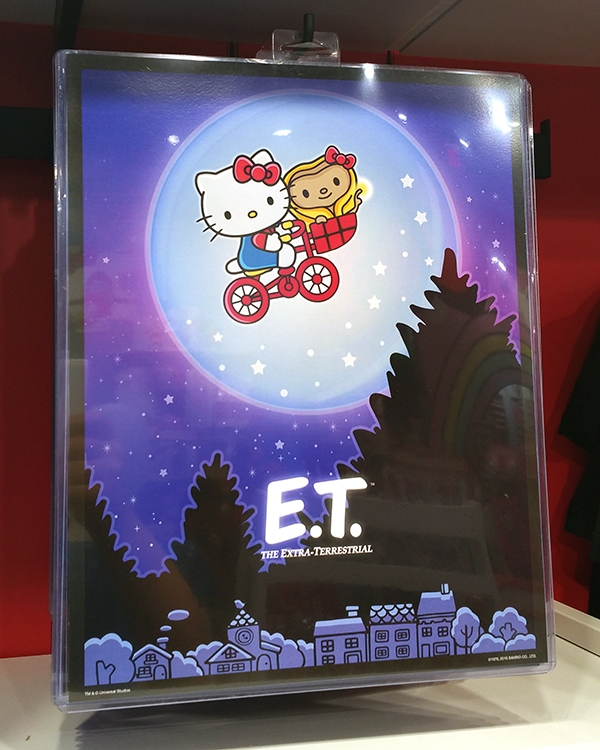 Authentic Universal Studios Hello Kitty ET Moon Bike Scene Poster Print