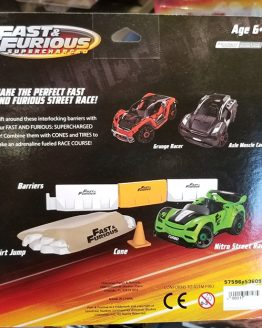 Fast and Furious Supercharged Universal Studios Modarri Toy Car – Barrier Pack