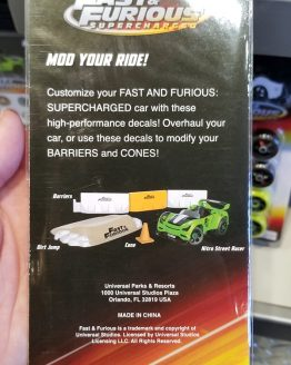 Fast and Furious Supercharged Universal Studios Modarri Toy Car – Decal Pack