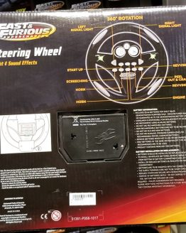Fast and Furious Supercharged Universal Studios Modarri Toy Car – Steering Wheel w/ Lights Sounds