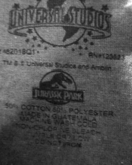 Jurassic Park JP 25th Anniversary Logo Universal Studios - Shirt Ladies Ringneck