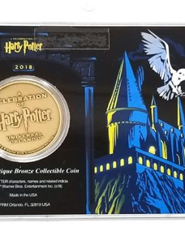 A Celebration of Harry Potter 2018 Universal Studios - 39mm Antique Bronze Collectible Coin