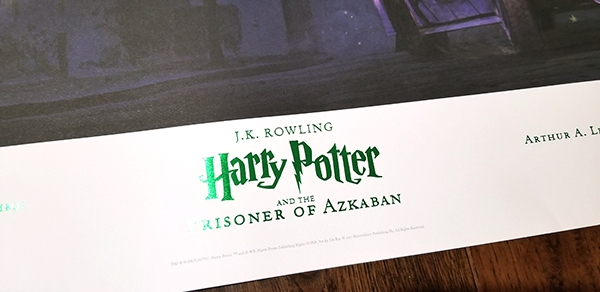 A Celebration of Harry Potter 2018 Universal Studios - Scholastic Poster Prisoner of Azkaban