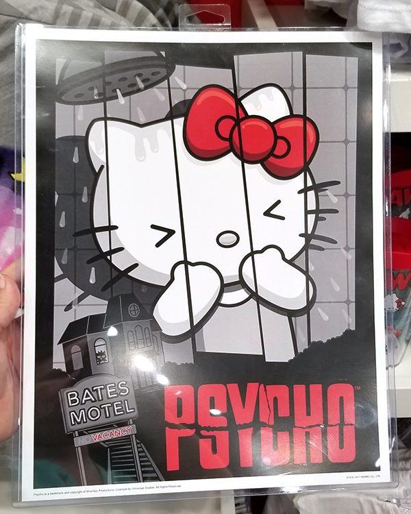 Authentic Universal Studios Hello Kitty Psycho Movie Scene Poster Print