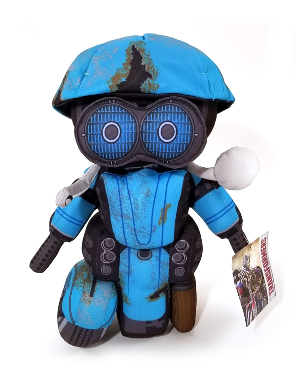 Transformers the Last Knight Universal Studios Plush Blue Robot Sqweeks