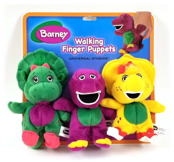 Barney and Friends Universal Studios Parks – Walking Finger Puppets Toys