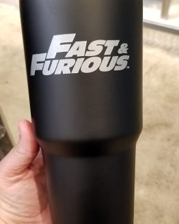 Fast and Furious Supercharged Universal Studios Tall Travel Mug w/ Lid - Family Forever Shield