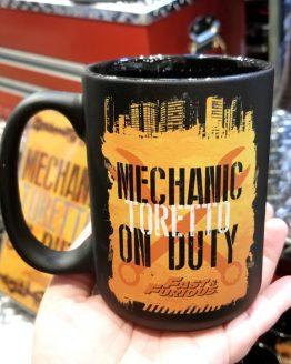 Fast and Furious Supercharged Universal Studios Coffee Mug - Toretto Mechanic on Duty