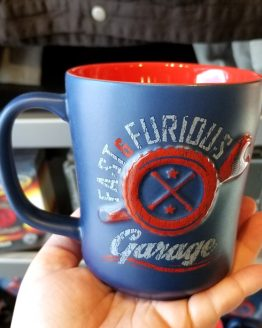 Fast and Furious Supercharged Universal Studios Coffee Mug - Garage Blue & Red
