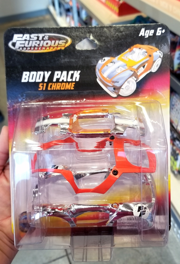 Fast and Furious Supercharged Universal Studios Modarri Toy Car – Body Pack S1 Chrome