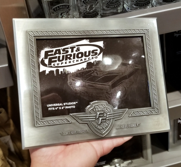 Fast and Furious Supercharged Universal Studios Photo Frame - 4x6 Family Forever