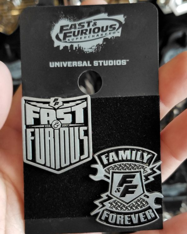 Fast and Furious Supercharged Universal Studios Trading Pin - 2 Pins Set - F&F / Family Forever