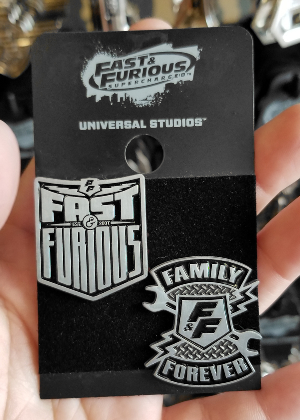 Fast and Furious Supercharged Universal Studios Trading Pin – 2 Pins Set – F&F / Family Forever