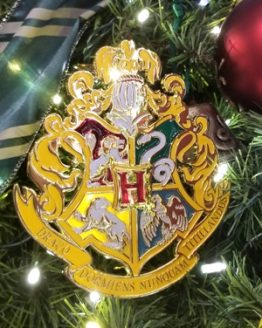 Wizarding World of Harry Potter Universal Studios Hogwarts Crest Metal Tree Topper Decoration
