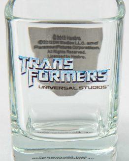 Transformers Universal Studios Shot Glass Set - Metal Autobot Decepticon Logo
