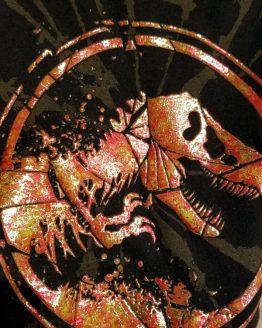Jurassic World Universal Studios Ladies Tank Top Shirt - Volcano Fire Logo