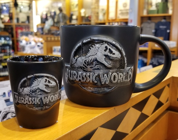 Jurassic World Universal Studios Fallen Kingdom Logo Mug and Shot Glass