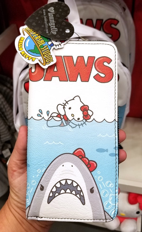 Authentic Loungefly Hello Kitty Mini Faux Leather Wallet – Jaws Movie Poster Art