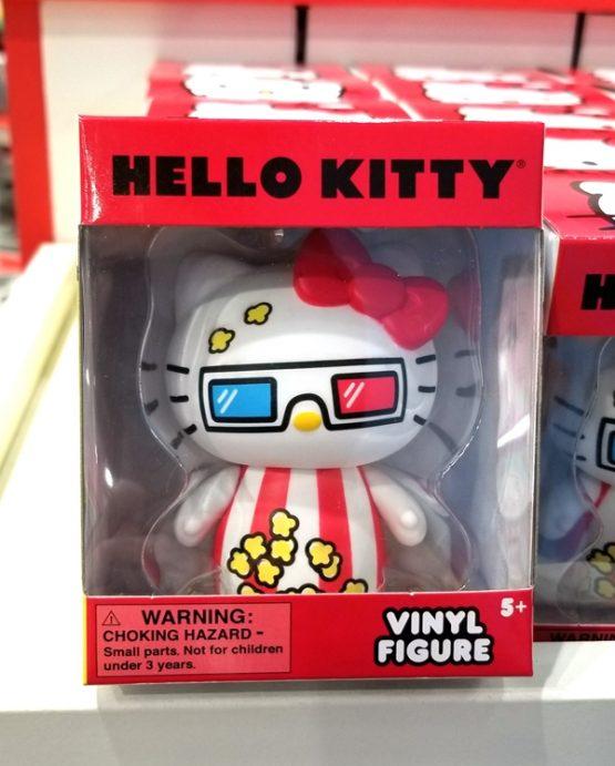 Hello Kitty Sanrio Universal Studios Vinyl Figure 3D Movie Glasses Popcorn