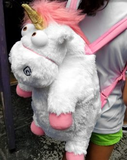Despicable ME Universal Studios Authentic Backpack It's SO Fluffy!!! Unicorn