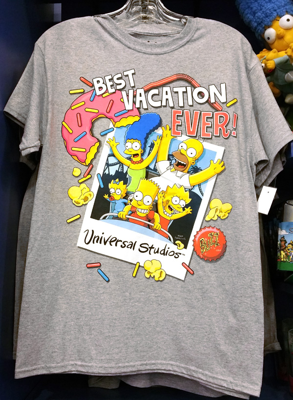 543b19f06 The Simpsons Universal Studios Parks Best Vacation Ever Men's T-Shirt