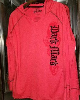 Wizarding World of Harry Potter Universal Studios Parks Long Sleeve Shirt Red Dark Mark
