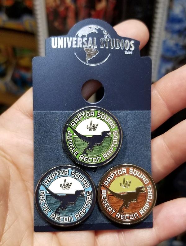 Jurassic World Universal Studios Parks Trading Pin Set – Raptor Squad Recon