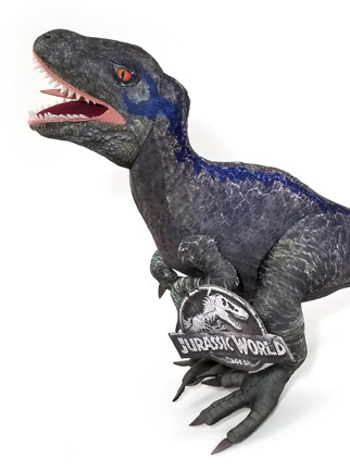 b433a1d3765 Authentic Blue Raptor Plush Toy Jurassic World Universal Studios Exclusive  23