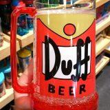 Simpsons Universal Studios Parks Duff Beer Plastic Insulated Mug