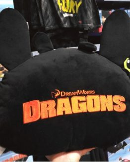 How to Train Your Dragon Universal Studios Parks Face Head Shaped Pillow Toothless Night Fury