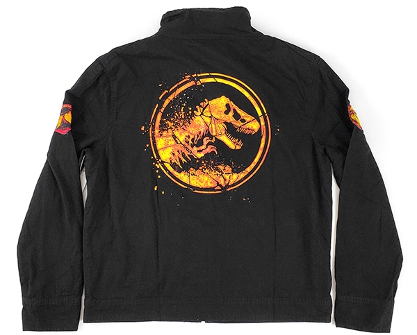 Jurassic World Fallen Kingdom Universal Studios Parks Men's Jacket Fire Volcano Logo