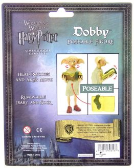"Poseable Dobby Free Elf 4"" Inch Figure w/ Sock Wizarding World Harry Potter NEW"
