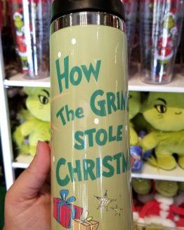 Dr Seuss The Grinch Universal Studios Parks 14oz Stainless Steel Transit Travel Mug