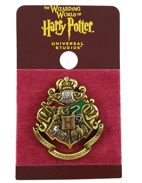 Wizarding World of Harry Potter Trading Pin Hogwarts Glitter Crest