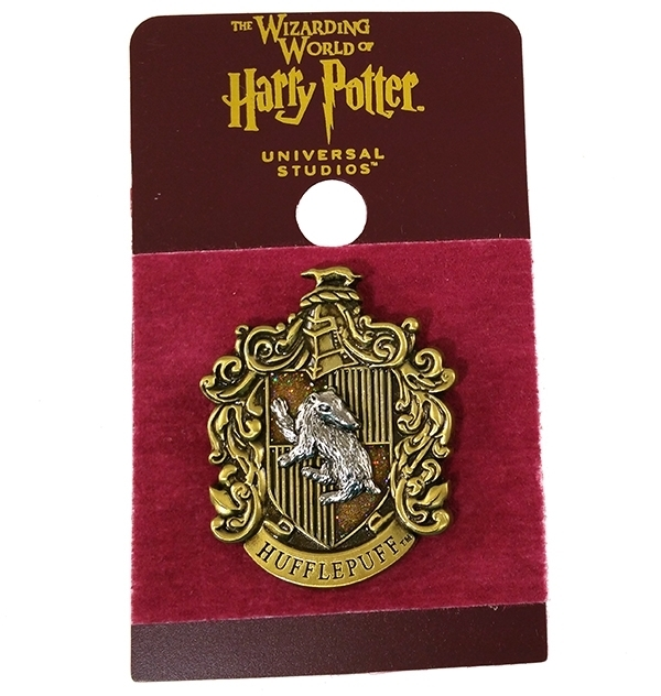Wizarding World of Harry Potter Trading Pin Hufflepuff Glitter Crest