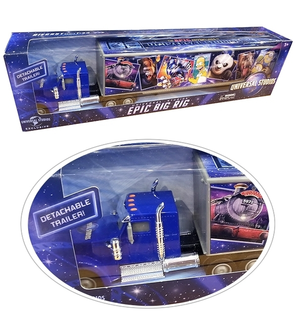 The 2019 Epic Adventures of Universal Studios Parks – 1:43 Scale Big Rig Truck Toy